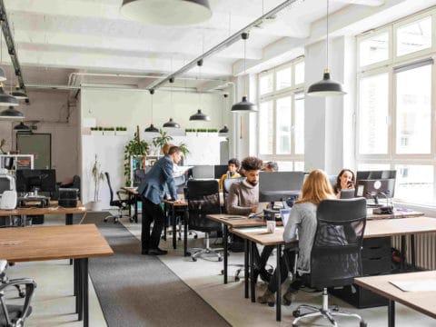 Auch in modernen Büros wie hier können Brandgefahren lauern.