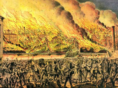 Malerei des Chicago Feuers